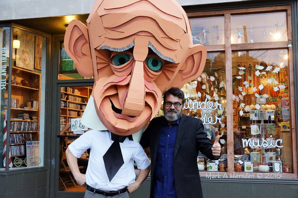 Wayne White with Luther Massingil Puppet - Wayne-O-Rama